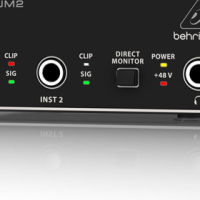 BEHRINGER UM2  2x2 USB AUDIO INTERFACE WITH XENYX MIC PRE AMP