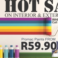 HOT SALE ON INTERIOR & EXTERIOR PAINTS