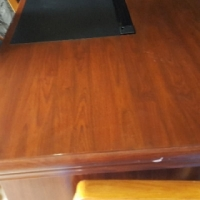 Walnut finish executive desk