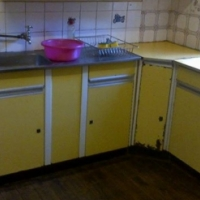 Steel kitchen cupboards