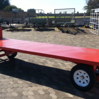DURA: Agricultural Double turn table trailer; Trolley trailer