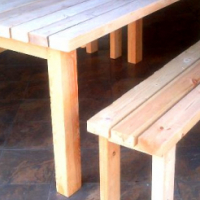 Rustic Patio Tables made to order! Unstained, stained or painted..