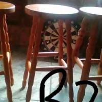 Pine bar stools