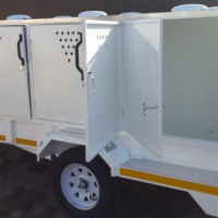 DURA: Dog trailer, Custom Dog trailers;  Multipurpose Dog Trailers, Dog grooming trailers