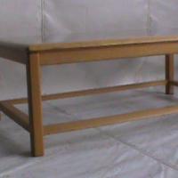 Oak rectangular wooden glass table