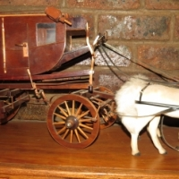 Hand made horse carriages and wagons set
