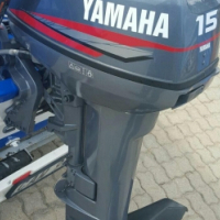 Used, 15hp Yamaha outboard motor for sale  George