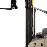 CROWN 2 TON STAND ON/SIT ON REACH TRUCK FOR SALE!