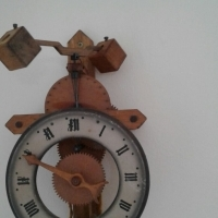 Gothic Wooden Wall Clock for sale  Atlantic Seaboard