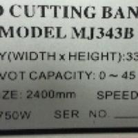 Woodcutting Band Saw MJ-343B for sale