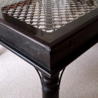 Thakat Sheesham Hand Made Coffee Table with Glass Top.