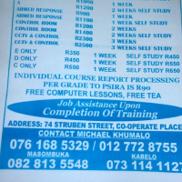 Security Training  E TO A,  Armed response  (Best services in town)