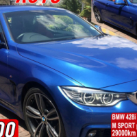 BMW 428i auto convertable hard top M SPORT package 21000km white / 29000km blue one owner GPS naviga