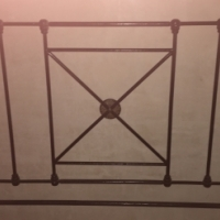 Cast iron head board for double bed
