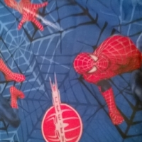 Spiderman duvet cover and matching curtains