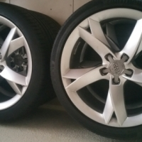 "19"" Audi wheels with Continental tyres."