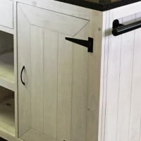 Kitchen Island Cottage Elegant series 1100 with door and drawer- White washed