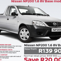 Nissan NP200 bakkies
