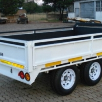 DURA: CARGO DROP SIDE TRAILER, 3 SIDE DROP SIDE TRAILERS, NEW DROP SIDE TRAILER.