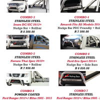 Crazy Specials, Corsa, Ford, Fortuner & Amarok Nudges, Rollbars, Side Steps, Towbars, ect