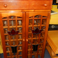 Stained Glass Wooden Wine Rack
