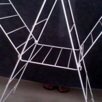 Coated Metal Clothes Drying Rack.