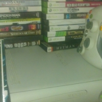 Xbox 360 with 65 games