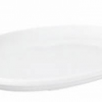 Plate, oval coupe plate 31 x 14cm Fortis