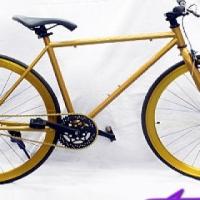 Gold & Black Retro Fixie Bicycle