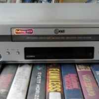 LG VHS Video Machine with 53 Movies.