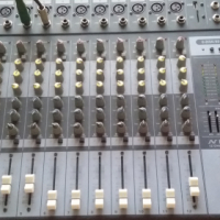 12 track mixing desk and speakers