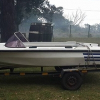 4m boat on trailer