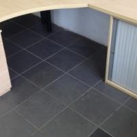 Maple L-shape desk with credenza