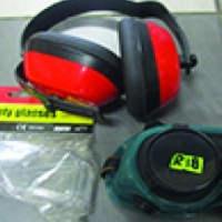 Safety glasses, welding goggles, ear muffs