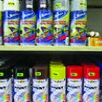 Spray paint matt & gloss finish