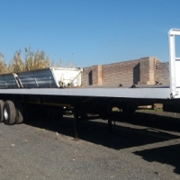 Refurbished tri axle trailer