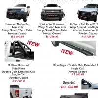 Ford Ranger 2012 - 2015 & 2016 Nudge Bars, Rollbars & Steps Specials