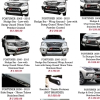 Toyota Fortuner 2005 - 2015 & 2016+ Nudge Bars + Towbar