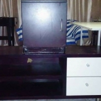 TV stand with free bedside cupboard for sale.