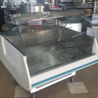 Curved Glass Deli Display Fridge 1.3m