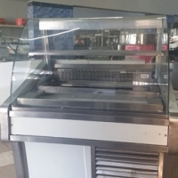 Curved Glass Deli Display Fridge 1.1m