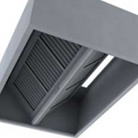 EXTRACTION CANOPY ISLAND TYPE 2400 WITH FILTERS (GALVANISED)