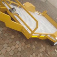 DURA: NEW Lawn mower Trailer, Brake neck Ride-on Lawn mower trailer; Custom build trailers