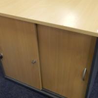 Wooden 2 Door Filing Cabinet