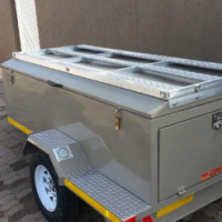 DURA: New Steel Luggage trailer 2000mm (6.5ft)
