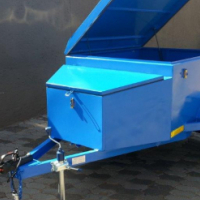 DURA: New Steel Luggage trailer 1500mm (5ft) with nose cone; Luggage trailer