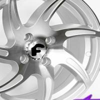 "15"" BK934 4/100 Silver Alloy Wheels"