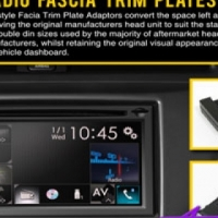Radio Fascia Trim Plate for Toyota Yaris 2012