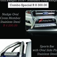 Ford Ranger 2016+ Nudge Bar & Rollbar Oval Range Stainless Steel Combo R8300.00