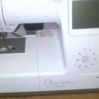 berlina 340 embroidery with usb stick